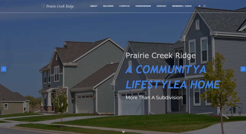 This is a thumbnail of the Prairie Creek Ridge website.