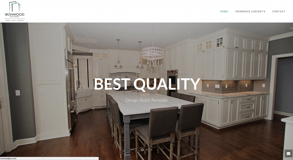 This is a thumbnail of the Ironwood Builders website.